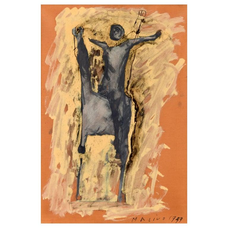 Marino Marini Equine Painting For Sale