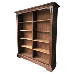 Fully Dismountable Handcrafted & Carved Gothic Revival Open Bookcase of Oakwood