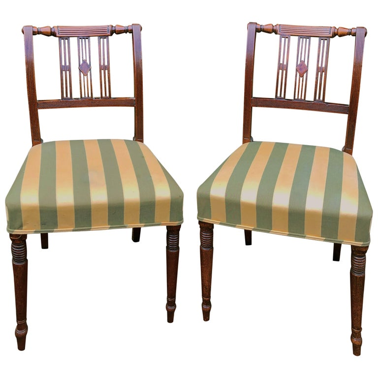 Set of Six Early 19th Century Regency Mahogany Single Dining Chairs For Sale