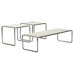 Set of Marcel Breuer Laccio Side Tables and Coffee Table