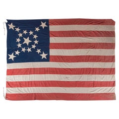 19 Star American Flag with Stars in an Spectacular Starburst Medallion Pattern