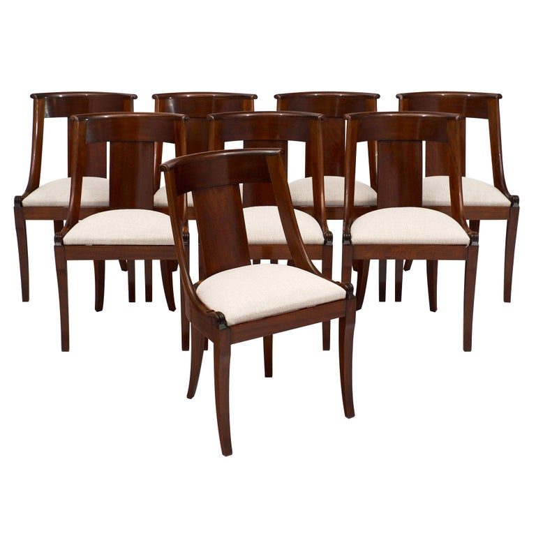 Gondola Empire Style Dining Chairs For Sale