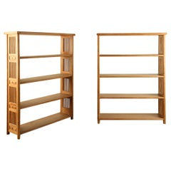 Pair of Cerused Oak Bookcases in the Secessionist Manner