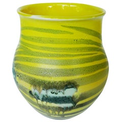 Thom Lussier Yellow Zebra Ceramic Vessel