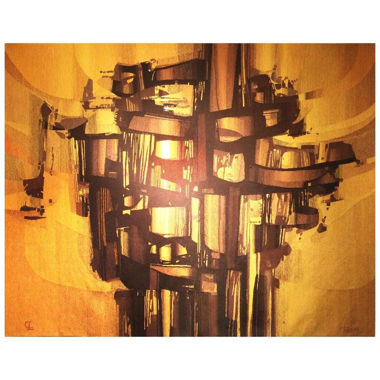 Modern Tapestry designed by André Borderie, La Tour de Feu For Sale