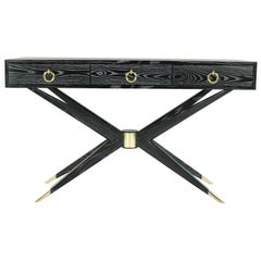 Sputnik Console Table in Black Ceruse