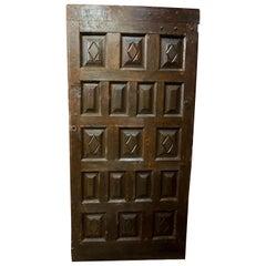 Spanish Walnut Door, circa 1780