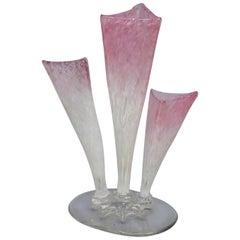 Steuben Rosaline Clutha Art Glass Stump Vase, circa 1930