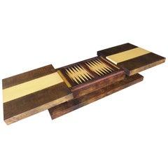 Aldo Tura Backgammon Coffee Table/Games Table, 1970s