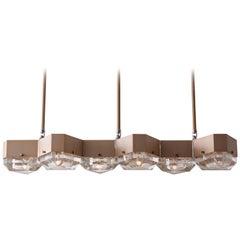 Vega Linear Six in Cast Glass by Matthew Fairbank
