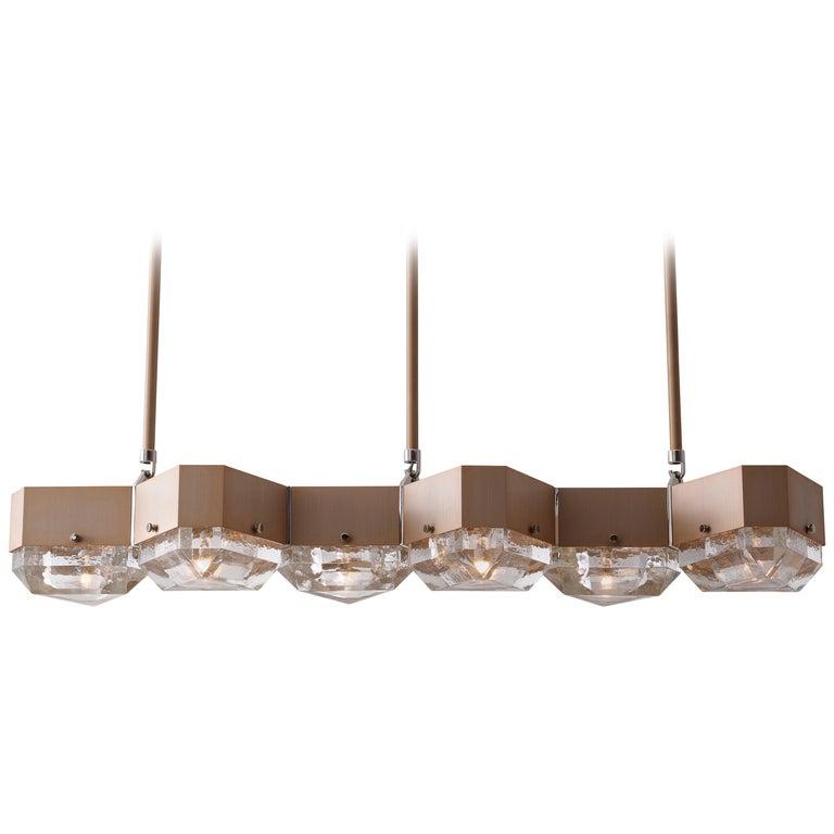Vega Linear Six in Cast Glass by Matthew Fairbank For Sale