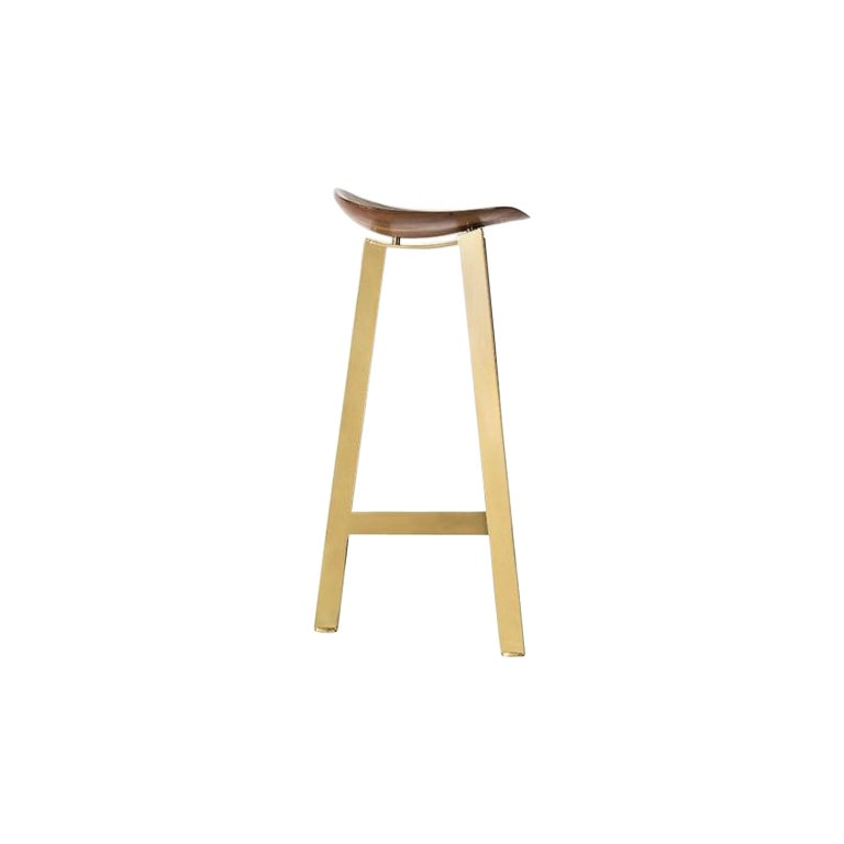 Easy Brass Bar Stool by Sollos