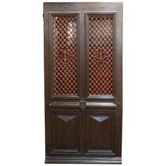 French Door with Iron Lattice, circa 1860