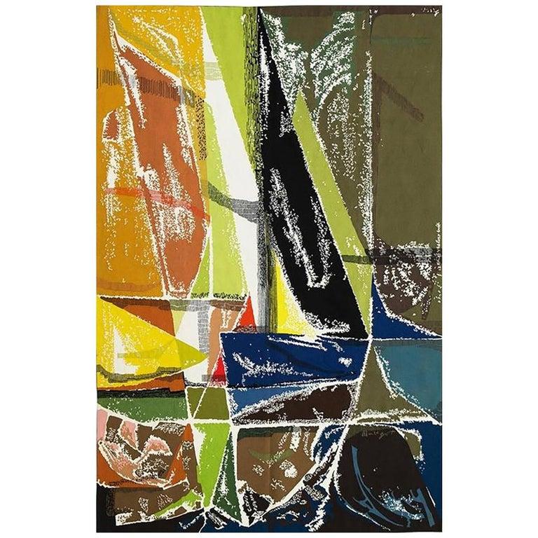 "Modern Tapestry Designed by Mathieu Matégot - ""Régates"" For Sale"