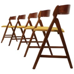 Henning Kjærnulf Teak Dining Chair Model 71, Set of 6