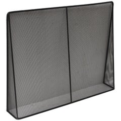 Custom Modern Metal Fireplace Screen by JED Design
