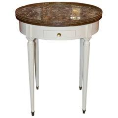 French Jansen White Bouillotte Table