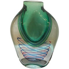 Contemporary Italian Eye Catching Art Glass Vase by Oggetti