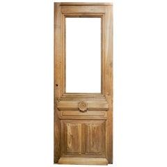 Single Walnut Door with High Relief Paneling