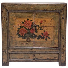 Early 20th Century Summer Blossom Painted Chest