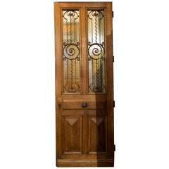French Door with Spiral Ironwork, circa 1860