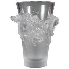 Fine Lalique France Limited Edition Equus Crystal Vase