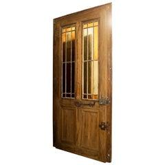 Walnut Door with Glass, circa 1870