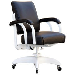 """1950s """"Good Form"""" Double Loop Steno Chair by General Fireproofing, Refinished"""