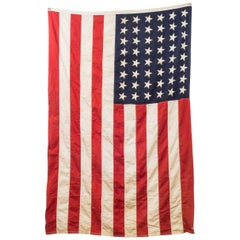 Early 20th Century Antique Large American Flag with 48 Stars, circa Pre 1940s