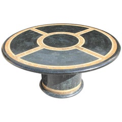 Monumental Mid-Century Modern Smith Tessellated Stone Round Dining Table, 1970s