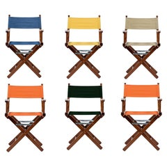 Set of Six, Normandy Foldable Outdoor Chairs Handmade in Italy