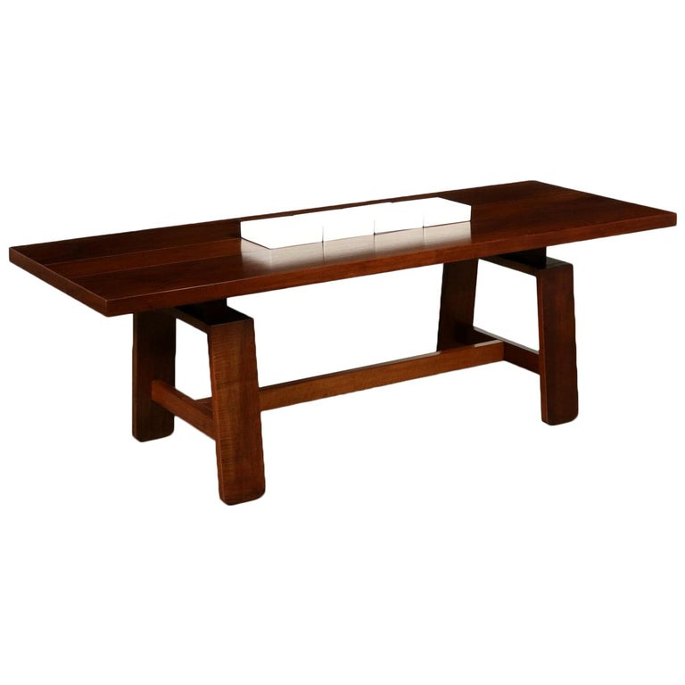 Table by Silvio Coppola Solid Wood Vintage Italy, 1960s-1970s For Sale