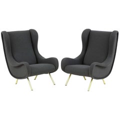 Pair of Armchairs, Model 'Senior' by Marco Zanuso