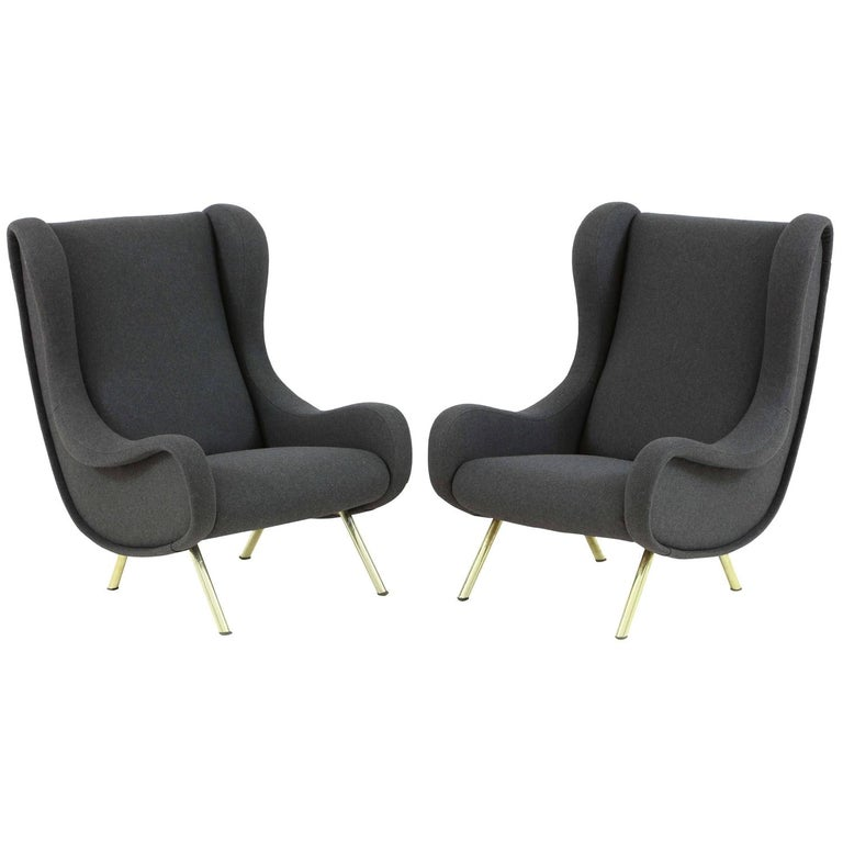 Pair of Armchairs, Model 'Senior' by Marco Zanuso For Sale
