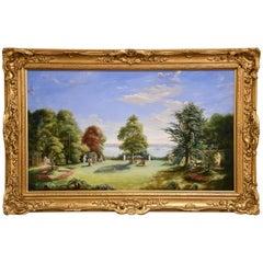"""Gardens at Elmfield, the Solent and Beyond"" by Albert Durer Lucas"