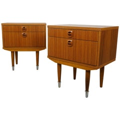 Pair of 1960s Teak Wooden Bedside Tables