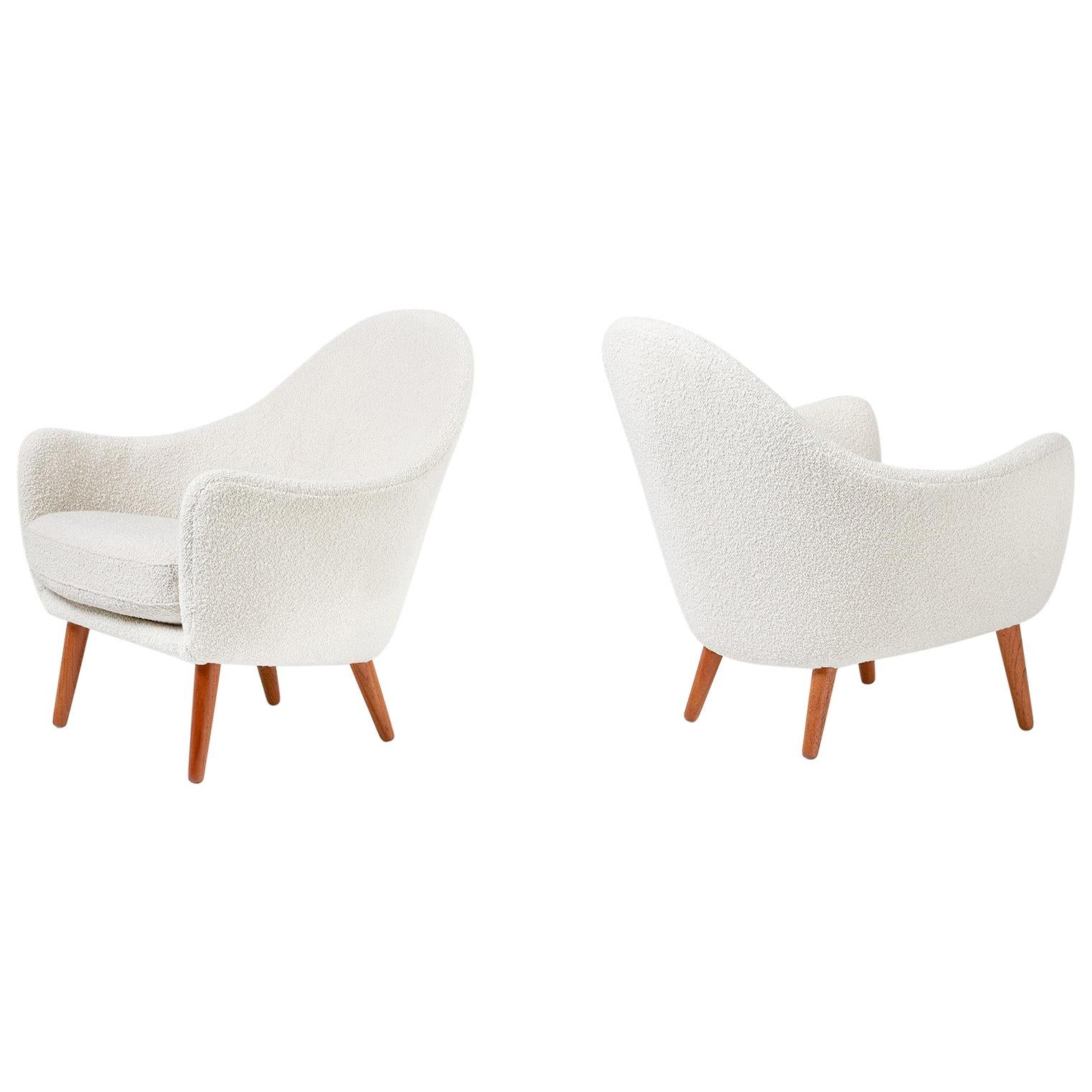 Ib Kofod-Larsen attributed, Lounge Chairs, circa 1960
