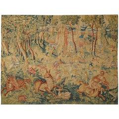 16th Century Antique Tapestry from Oudenaarde, Belgium - Fantastic Animals