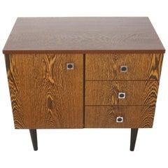 1950s-1960s Wengé Wooden Cabinet
