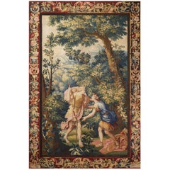 "18th Century antique tapestry from Brussels - ""Diana and Endymion"""