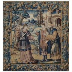 17th Century Antique Tapestry - St. Raphael & Tobias