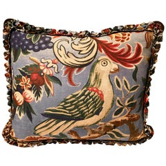 Black Forest Cushion Handmade Fringe Hunting Scene Sofina Boutique