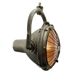 Cast Aluminum Vintage Industrial Striped Glass Crouse-Hinds Hanging Spot Light