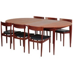 Rosengren Hansen Dining Table and 6 Chairs, 1960s