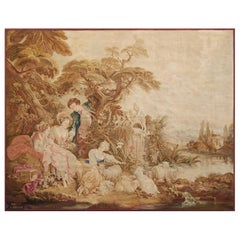 19th Century Antique Tapestry Cartoon by François Boucher