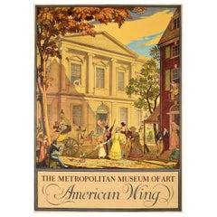 Original Vintage Poster The Metropolitan Museum Of Art American Wing New Gallery