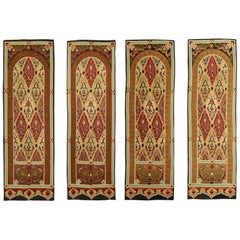 Mid-19th Century Antique Tapestries, group of 4, finest quality, Aubusson