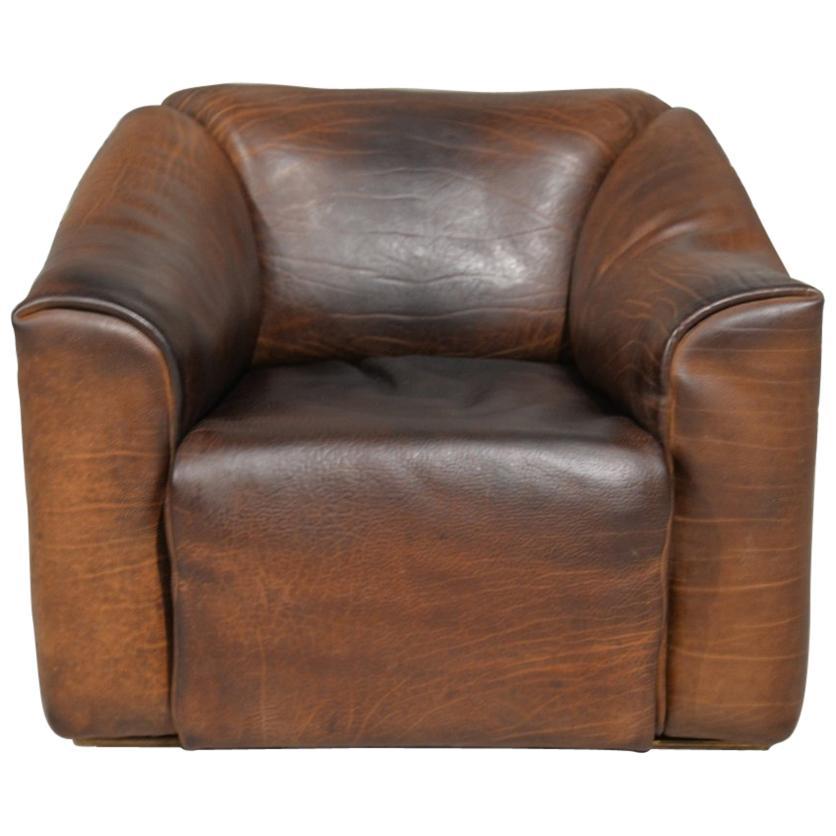 Vintage De Sede DS 47 Leather Armchair, Switzerland, 1970s
