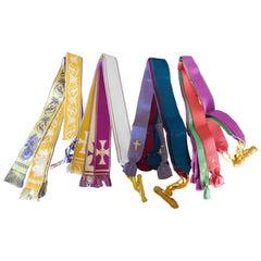 Twenty Vintage Silk Bible Marker Ribbons