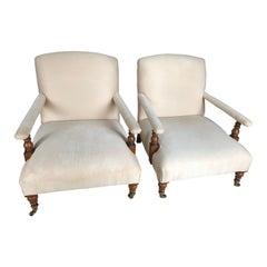 Pair of Ralph Lauren Oliver Library Club Chairs with Great Bones